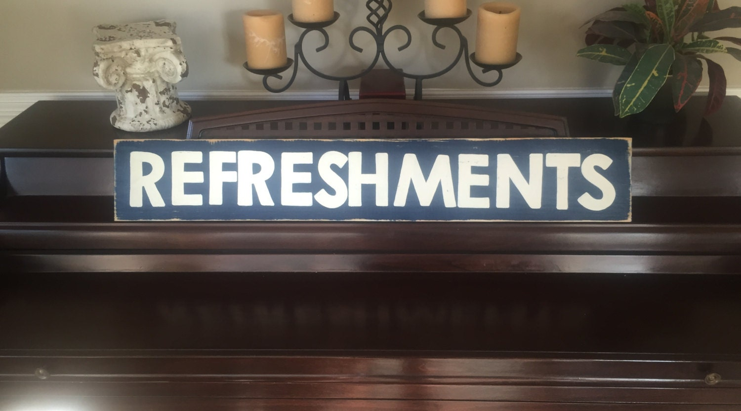 Refreshments Home Movie Theater Decor Snack Shop Concessions Ballpark Bar Room Sign Primitive Wooden Hp You