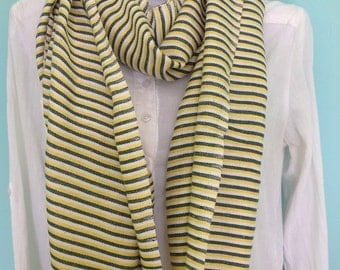 Scarf  Yellow and Green white stripes Cotton scarf, Men Women Cotton Scarf Green Yellow white Ethiopian Scarf-Accessories- Green Bay Packers