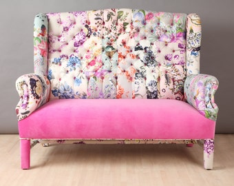 Pink Candy - wing patchwork sofa