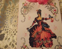 Marie Antoinette Gift Tags For Gift Giving Scrapbooking Packaging Party Favors Birthday Paqrty Banners i5th Celebration