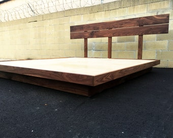 "The ""SeaWeed"" a mid century modern bed, mid century modern platform bed"