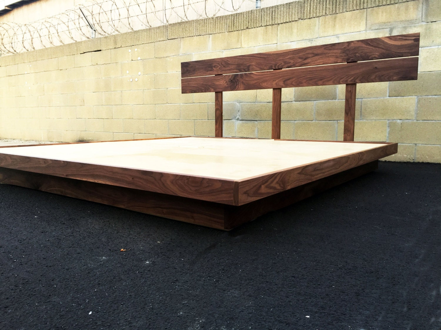 the seaweed a mid century modern bed mid century modern platform bed