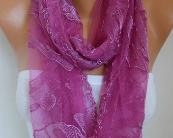 Hot Pink Scarf Shawl Christmas Gift Fall Scarf Bridesmaid Gift Bridal Accessories Gift Ideas For Her Women Fashion Accessories  Scarves