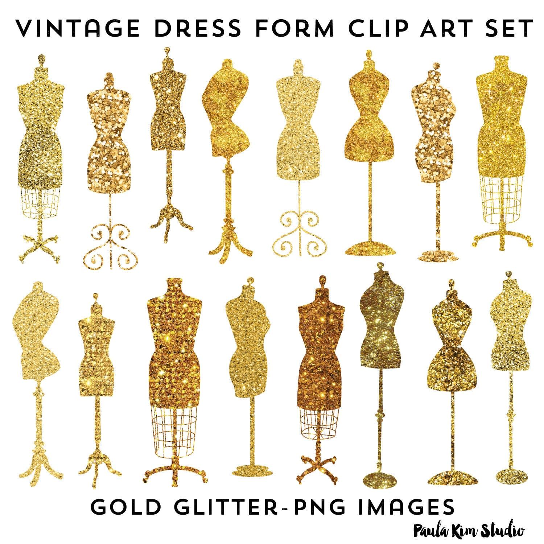 vintage dresses clipart - photo #14