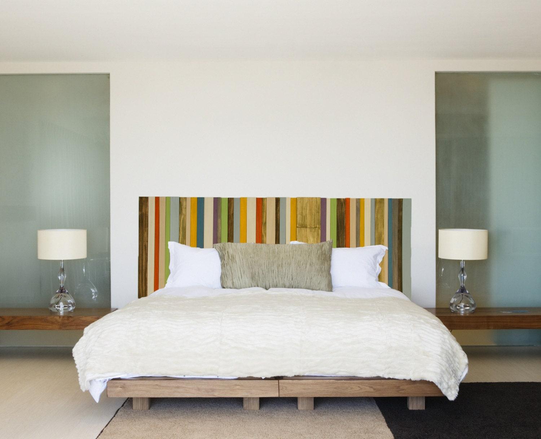 modern headboard reclaimed wood furniture by artglamoursligo