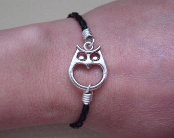 Owl Braided Leather Bracelet or Anklet Stacking Leather Bracelets Unisex Leather Bracelets Anklets Made in USA by Taylors Temptations