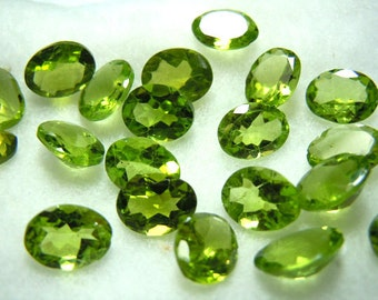 Peridot Oval Cut Stone Size 7x9MM  10 Pc AAA Quality 100% Natural Gemstone  Wholesale Price