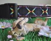 Dog Collar - Faux Beading  -  50% Profits to Dog Rescue