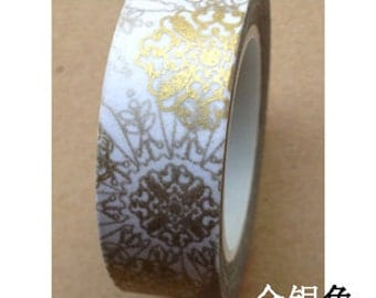 Gold and Sliver Pattern Washi Tape (10M)