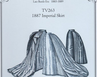 TV263 - Truly Victorian #263, 1887 Imperial Skirt Sewing Pattern