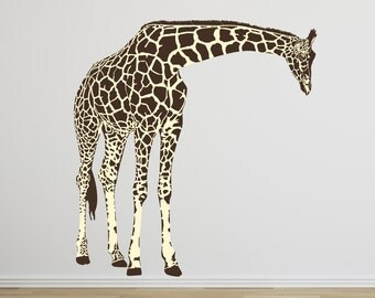 LARGE Fabric Giraffe Wall Decals Vinyl Decal Wall Fabric Design