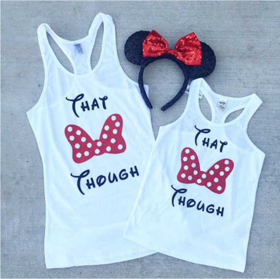 THAT BOW THOUGH Minnie Mouse Tank - All Ages - baby, toddler, child, adult, disney disneyland Princess Disney bound Minnie Mouse