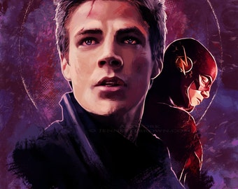The Flash Barry Allen Fan Art Prints and Posters