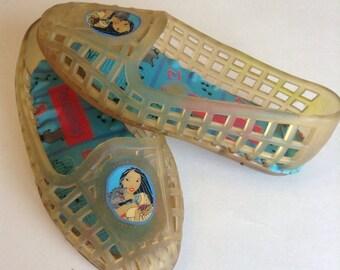 Vintage Disneys Pocahontas Jellies (toddler size 3)