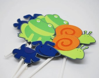 What Little Boys are Made of Cupcake Toppers Set of 12 By Your Little Cupcake