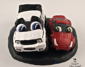 Ready to Ship Truck and Car Wedding Cake Topper