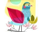 INDIAN SUMMER, bird, Ellen Giggenbach, print