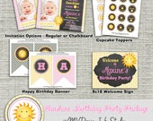 Sunshine Birthday Party Package, You Are My Sunshine Birthday Party Package -Digital File You Print
