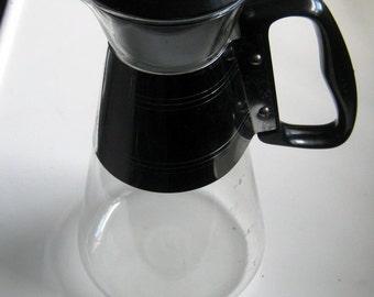 Vintage Retro Clear Glass Coffee Pot