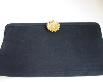 Vintage JR Black Clutch Purse