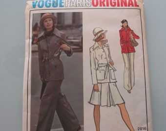 Vintage Vogue Christian Dior Suit Pattern