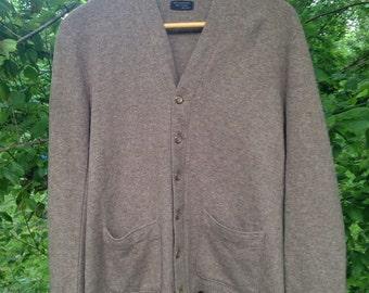 Gorgeous Mens Virgin Wool Cardigan Sweater Size 42
