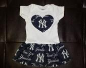 Boutique Yankees Onesie Dress