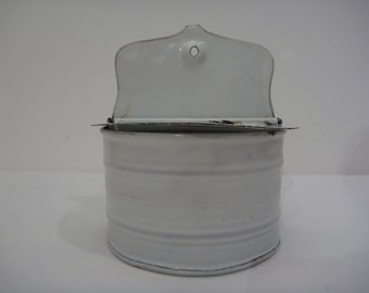 Enamel Salt Box