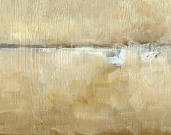 The Far Pond — Original Oil Painting, Landscape Painting, Abstract Landscape, Original Painting, Abstract Oil Painting, Fine Art, 5 x 7