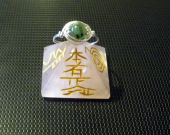 Green Kyanite wire wrapped ring you choose size hedgewitch pagan