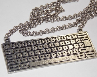 Gorgeous Geekery Love Letter Keyboard Necklace - Tech, IT, Computer, Web Design, Science, Math, Email, Fun - Great Gift!