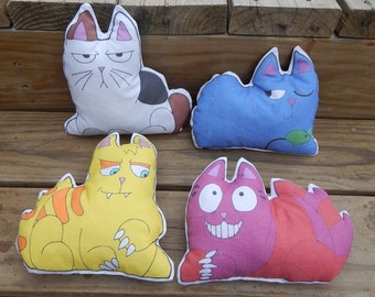 Allie Cats zombie fighting cats kitty plush dolls Nazi Zombies AU cheshire russian blue tabby japanese bobtail