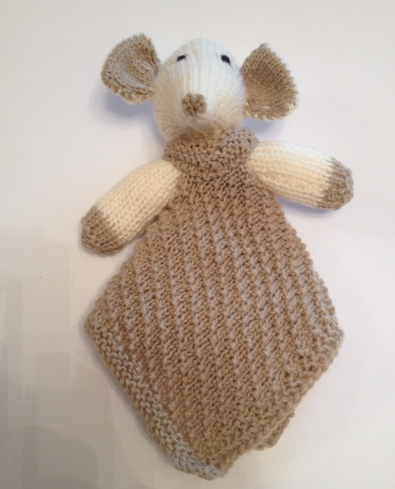 Mini Elephant Comfort Blanket by pullypullyknits on Etsy