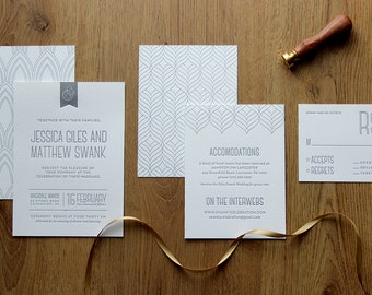 "Printable DIY Wedding Invitation Suite ""Swanky Bold and Modern"""