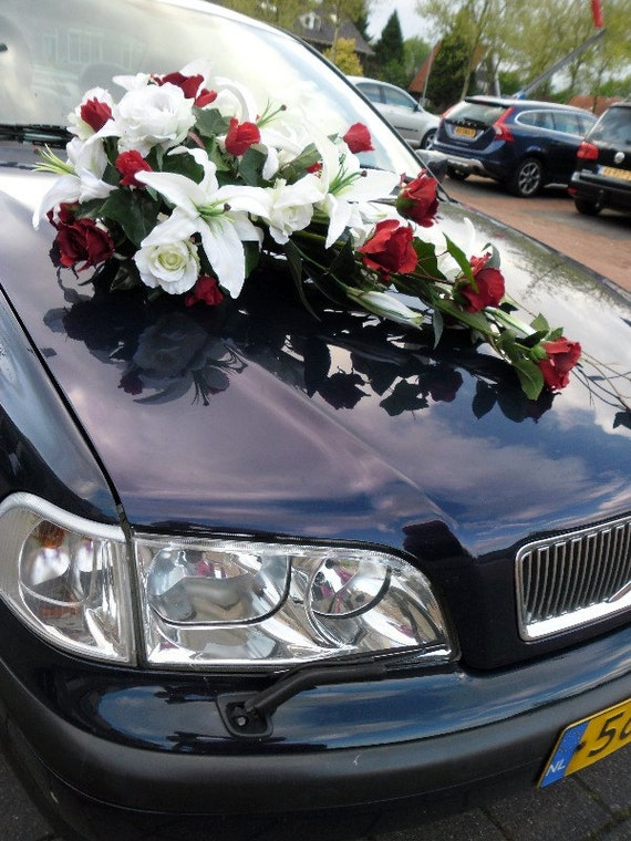 Long Silk Floral Arrangement Decoration For Wedding Car - Roses, Lilies, Vines