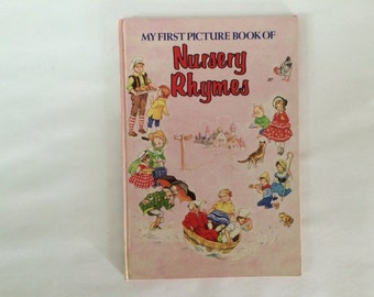 Vintage Oversized Nursery Rhyme Picture Book