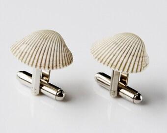 Shell Cufflinks - Groomsmen Gift - Gifts For Men - Gift Box Included