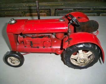 Vintage Highly Detailed Metal Toy Tractor