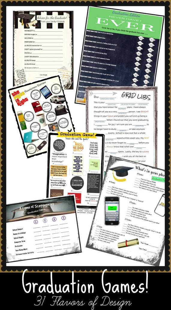 Enterprising image for free printable graduation party games