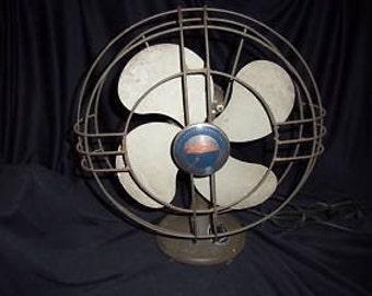 Vintage electric fan, metal fan, electric
