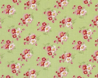 68069  Tanya Whelan Rosey collection Cherry blossom in green  PWTW064 -  1 yard