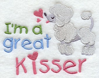 I'm a Great Kisser Embroidered Flour Sack Hand/Dish Towel