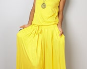Yellow Maxi Dress -  Sleeveless dress : Autumn Thrills Collection No.9