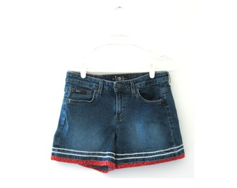Rick Rack Piping 90s Denim Shorts Size Medium