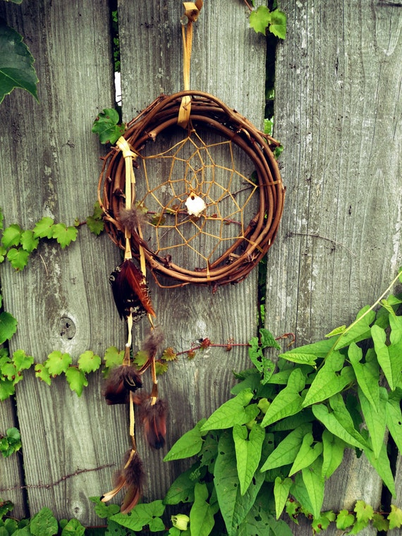 Grapevine Dreamcatcher Primitive Wall Hanging Rustic Home Decor Woodsy Decor Antler Wall Art Creative Space Boho Decor