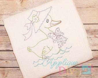 Vintage Stitch Mother Goose Digital Embroidery Design Machine Applique