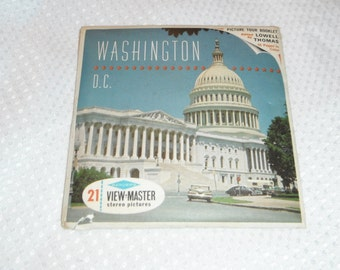 Sawyer's View Master Washington D. C Packet No. A 790 Vintage Viewmaster