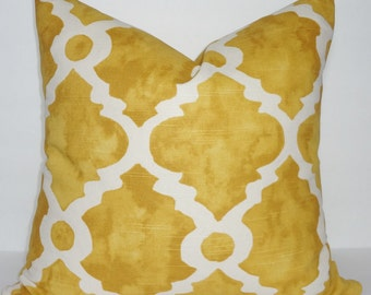Decorative Pillow Cover Golden Rod Geometric Pillow Cover Throw Pillow Cover Choose Size
