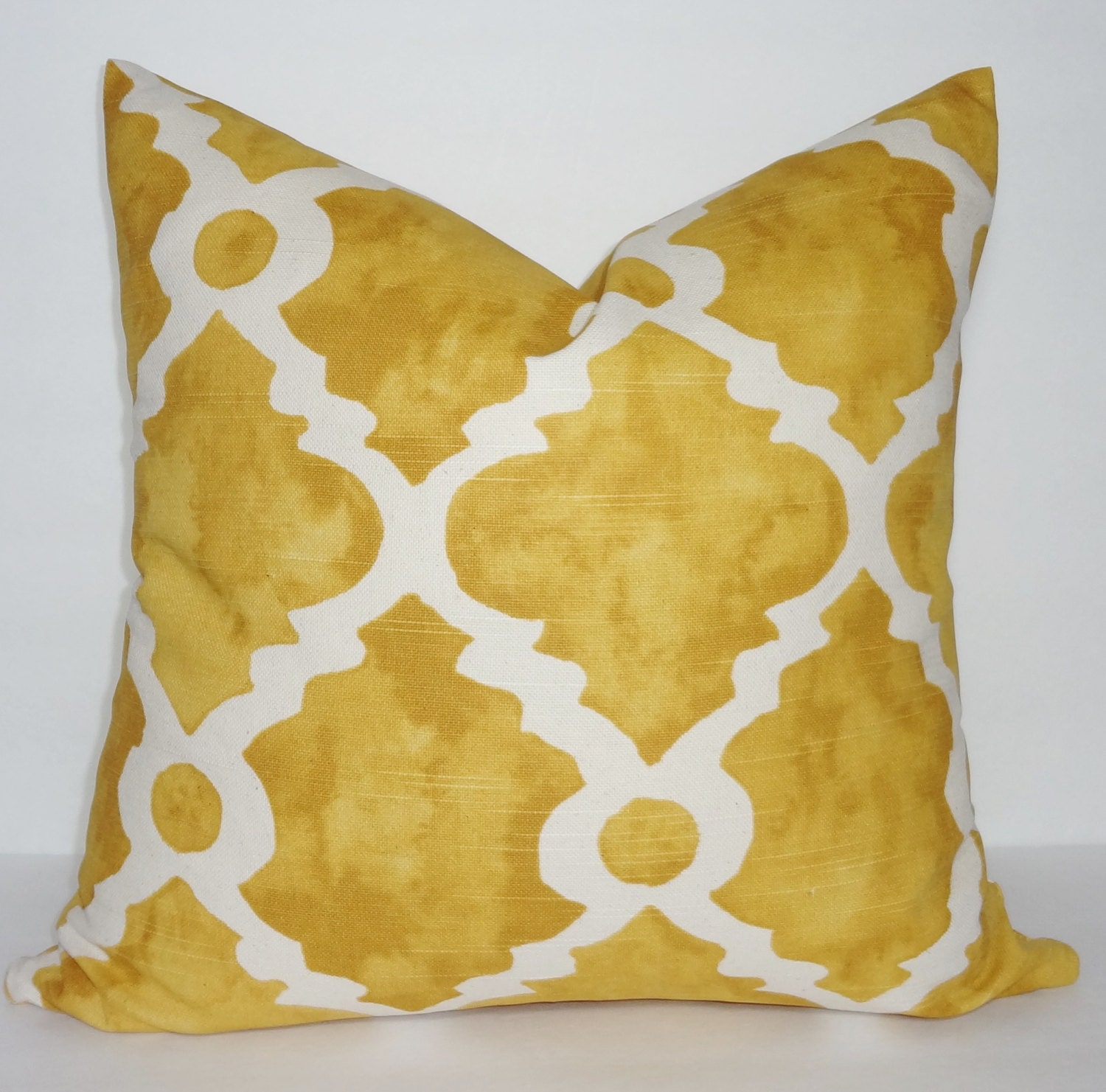 Goldenrod Throw Pillow : Decorative Pillow Cover Golden Rod Geometric Pillow Cover