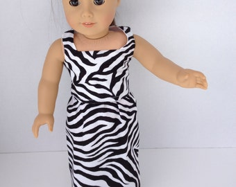 18 inch Doll Dress, Night Out Zebra  Maxi Skirt and Top